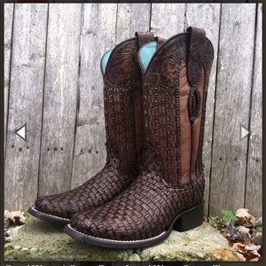 Corral Ladies Sz 8 Square Toe Boots
